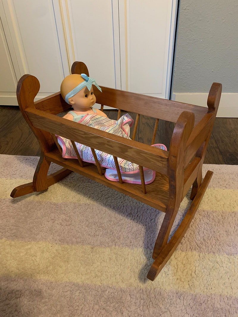 Wooden doll furniture made by W. B. Tanner Jr. image 2